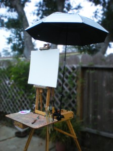 French Half-box with Plein Air Umbrella